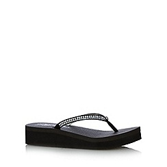 Skechers - Black 'Vinyasa Namaste' memory foam flip flops