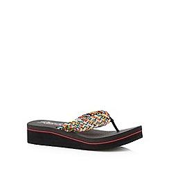 Skechers - Black 'Vinyasa-Dharma' memory foam sandals