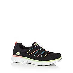Skechers - Black 'Synergy Loving Life' memory foam trainers