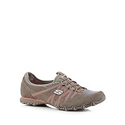 Skechers - Taupe 'Bikers Verified' suede trainers