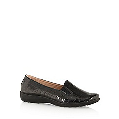 Cushion Walk - Black mock croc shoes