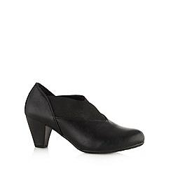 Cushion Walk - Black slip on mid heel shoes