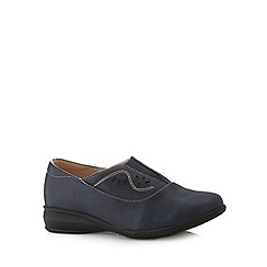Cushion Walk - Navy stitched slip on shoes