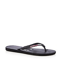 Gandys - Black plaited flip flops