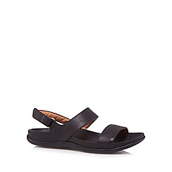 Strive - Black leather two strap sandals