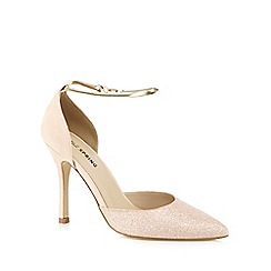 Call It Spring - Pale pink 'Pieris' glitter toe high court shoes