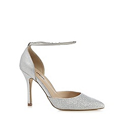 Call It Spring - Silver glitter 'Pieris' high stiletto heel pointed shoes