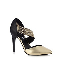 Call It Spring - Gold 'Nanine' textured strap high court shoes
