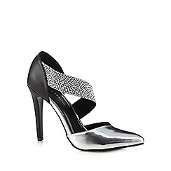 Call It Spring - Silver 'Nanine' textured strap high court shoes