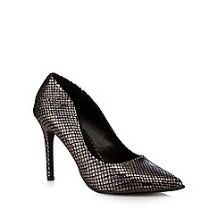 Call It Spring - Metallic snakeskin-effect high heeled court shoes