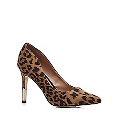 Call It Spring - Tan 'Abeasen' leopard print pointed high court shoes