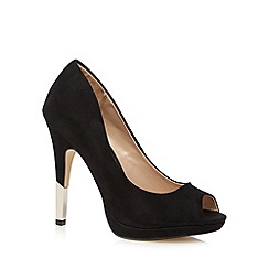Call It Spring - Black 'Cardeaven' peep toe court shoes