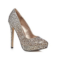 Call It Spring - Light gold sequinned high heeled court shoes