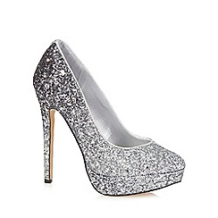 Call It Spring - Silver 'Yassine' sequinned high heeled court shoes