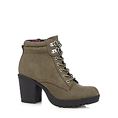 Call It Spring - Khaki 'Galiredien' high heeled ankle boots
