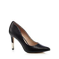 Call It Spring - Black 'Abeasen' metal high heel court shoes