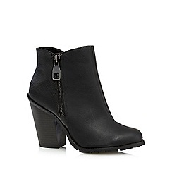 Call It Spring - Black 'Criviel' zip detail ankle boots