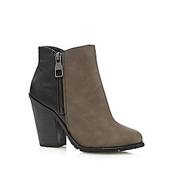 Call It Spring - Taupe 'Criviel' colour block zip detail ankle boots