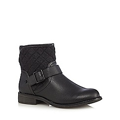 Call It Spring - Dark grey 'Hilari' quilted boots