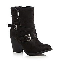 Call It Spring - Black 'Antonoff' multi strap high heeled ankle boots