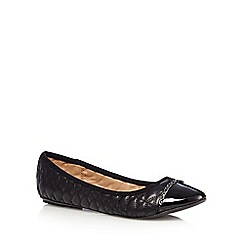 Call It Spring - Black 'Senon' quilted patent toe pumps