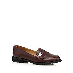 Call It Spring - Dark red 'Muriella' patent strap loafers