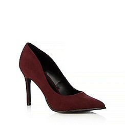 Call It Spring - Dark red 'Scucina' zip trimmed high heeled courts