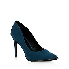 Call It Spring - Turquoise 'Scucina' zip trimmed high heeled courts