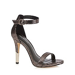 Call It Spring - Gold metallic 'Astilawen' high heeled stiletto sandals