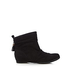 Call It Spring - Black 'Aldocina' suedette ankle boots