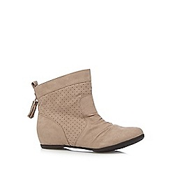 Call It Spring - Taupe 'Aldocina' suedette ankle boots