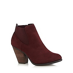 Call It Spring - Dark red 'Camorone' suedette high boots