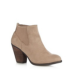 Call It Spring - Taupe 'Camorone' suedette high boots