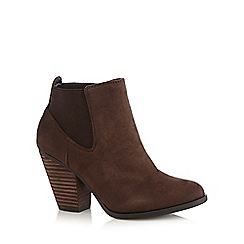 Call It Spring - Dark brown 'Camorone' suedette high boots