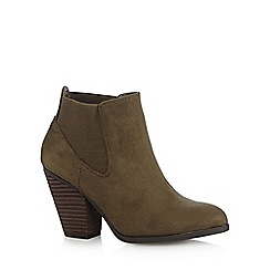 Call It Spring - Khaki 'Camorone' suedette high boots