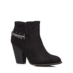 Call It Spring - Black 'Ameila' high heeled ankle boots