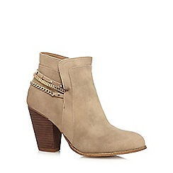 Call It Spring - Taupe 'Ameila' high heeled ankle boots