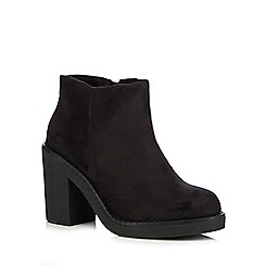 Call It Spring - Black 'Noury' suedette high heeled ankle boots