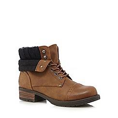 Call It Spring - Tan 'Saren' ankle boots