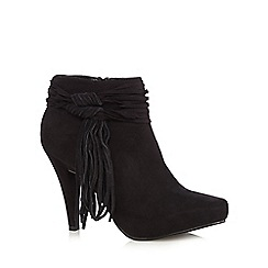 Call It Spring - Black 'Aldonia' high leg shoe boots