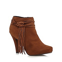 Call It Spring - Tan 'Aldonia' high leg shoe boots