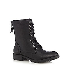 Call It Spring - Black 'Aliradda' lace up boots