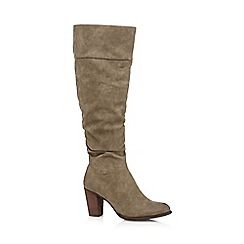 Call It Spring - Taupe 'Bera' high heeled boots