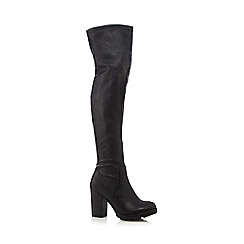 Call It Spring - Black high heeled over the knee boots