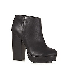 Call It Spring - Black 'Leawen' high heeled platform ankle boots