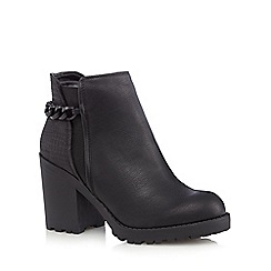 Call It Spring - Black 'Digossi' croc-effect boots