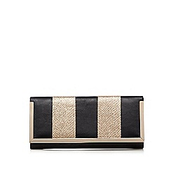 Call It Spring - Black snakeskin-effect clutch bag
