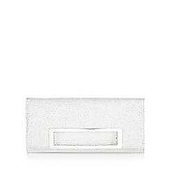 Call It Spring - Silver 'Quartucciu' tiled cutout handle clutch bag