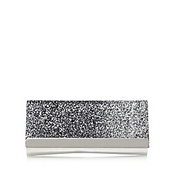 Call It Spring - Silver 'Mache' sequinned clutch bag