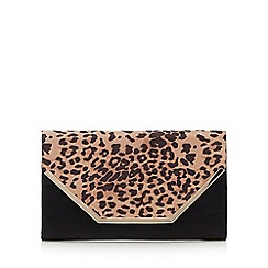 Call It Spring - Black 'Tiffany' leopard clutch bag